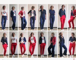 met weinig kleding veel verschillende combinaties maken